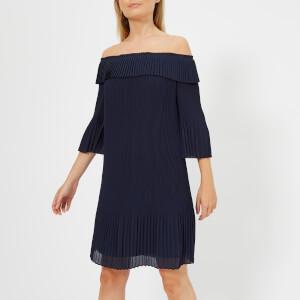 Ted Baker Women's Franeis Pleated Bardot Dress - Navy