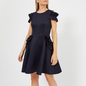 Ted Baker Women's Deneese Ruffle Detail Dress - Navy