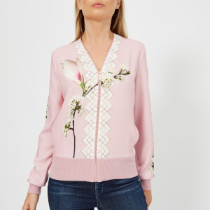 Ted Baker Women's Emylou Harmony Print Zip Up Cardigan - Pl-Pink