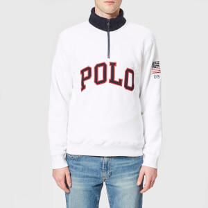 Polo Ralph Lauren Men's Zip Fleece Jumper - White
