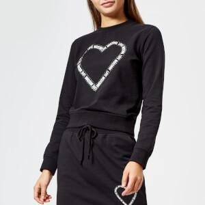 Love Moschino Women's Heart Logo Sweatshirt - Black