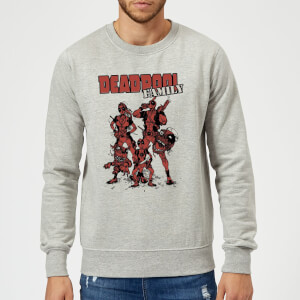 Sweat Homme Deadpool Photo de Famille Marvel - Gris
