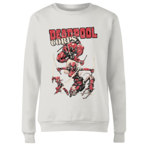 Marvel Deadpool Family Corps Women's Sweatshirt - White