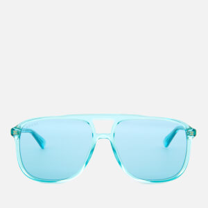 Gucci Men's Acetate Blue Frame Sunglasses - Light Blue
