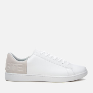 Lacoste Men's Carnaby Evo 318 6 Leather/Suede Trainers - White/Light Grey