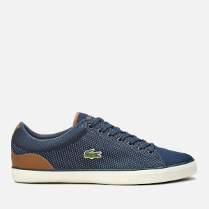 Lacoste Men's Lerond 318 1 Textile Trainers - Navy/Tan