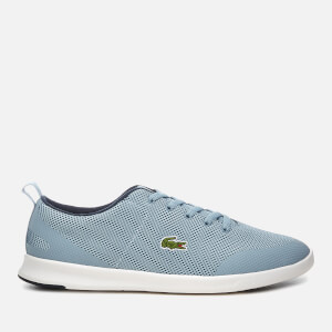 Lacoste Women's Avenir 318 2 Textile Low Profile Trainers - Light Blue/Navy