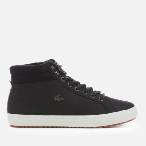 Lacoste Men's Straightset Insulate C 318 1 Water Resistant Leather Boots - Black/Black