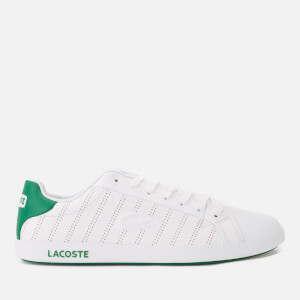 Lacoste Men's Graduate 318 1 Perforated Leather Trainers - White/Green