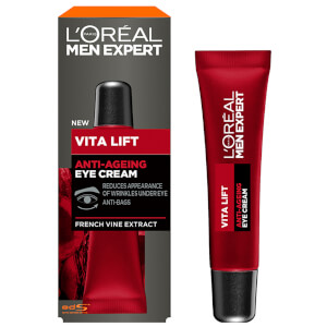 Crema de ojos antiarrugas Vita Lift de L'Oréal Paris Men Expert 15 ml