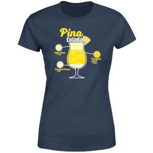 Infographic Pinacolada Women's T-Shirt - Navy
