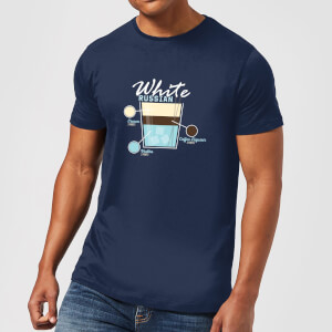 Infographic White Russian Men's T-Shirt - Navy