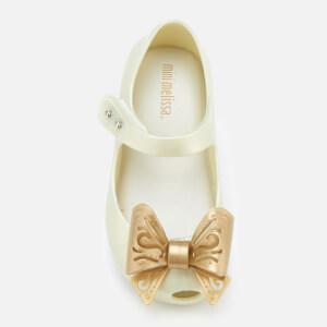 Mini Melissa Toddlers' Ultragirl Fairy Bow Ballet Flats - Pearl: Image 3