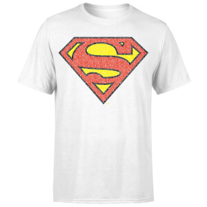 Originals Official Superman Crackle Logo Men's T-Shirt - White