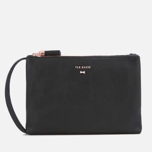 Ted Baker Women's Suzette Leather Double Zipped Cross Body Bag - Black