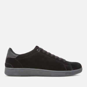 Superdry Men's Sleek Tennis Low Premium Trainers - Black/Dark Charcoal