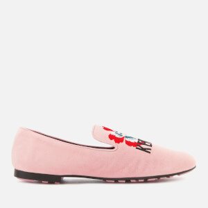 KENZO Women's Custer Embroidered Loafers - Faded Pink