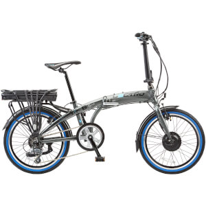 Lectro Rapide Folding 8 Speed Electric Power Assisted Bike - Grey