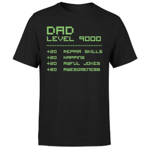 Dad Level Up Men's T-Shirt - Black