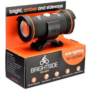Brightside Side Facing LED Amber Bike Light