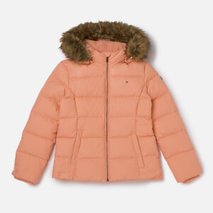 Tommy Hilfiger Girl's Basic Down Jacket - Coral Almond