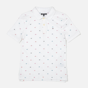 Tommy Hilfiger Boy's Pattern Polo Shirt - Bright White