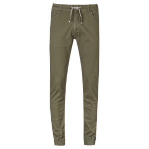 Threadbare Men's Jeffery Cuffed Chinos - Khaki