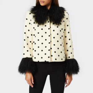 Saks Potts Women's Dorthe Dotted Jacket - White/Black