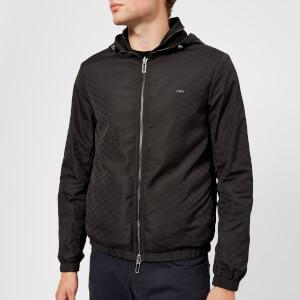 Emporio Armani Men's Reversible All Over Logo Blouson Jacket - Nero