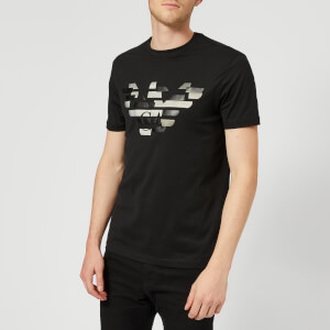 Emporio Armani Men's Abstract Logo T-Shirt - Nero