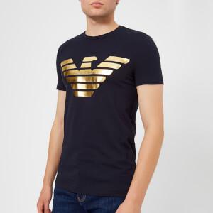 Emporio Armani Men's Foil Print T-Shirt - Navy