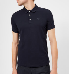 Emporio Armani Men's Small Eagle Polo Shirt - Blue Scuro