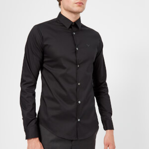 Emporio Armani Men's Slim Stripe Fit Shirt - Black