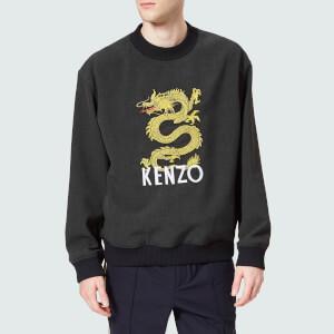KENZO Men's Dragon Logo Sweatshirt - Anthracite