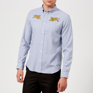 KENZO Men's Checked Tiger Shirt - Blue