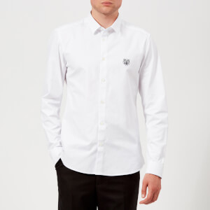 KENZO Men's Slim Fit Cotton Twill Shirt - White