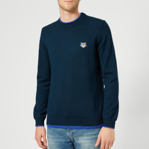 KENZO Men's Crew Knitted Basic Jumper - Navy Blue