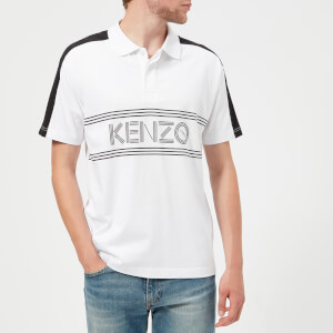 KENZO Men's Large Logo Short Sleeve Polo Shirt - White