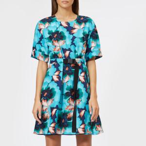 KENZO Women's Indonesian Flower Dress - Navy Blue