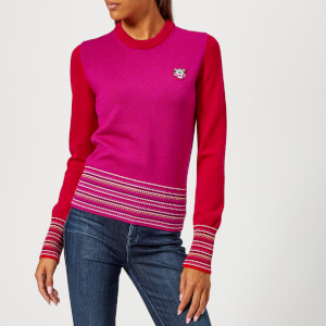 KENZO Women's Tiger Crest Wool Knit Jumper - Red