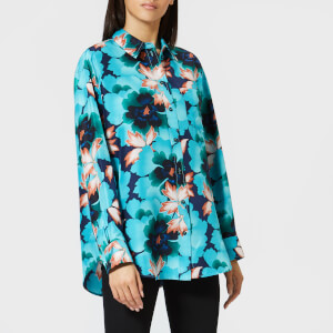 KENZO Women's Indonesian Flower Shirt - Navy Blue