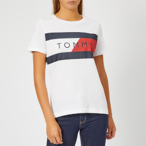 Tommy Hilfiger Women's Athleisure Elenor Crew Neck T-Shirt - White