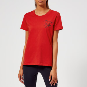 Tommy Hilfiger Women's Fifi Short Sleeve Round Neck T-Shirt - Red