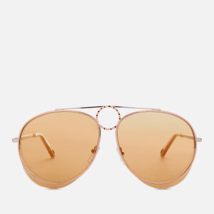 Chloe Women's Romie Aviator Style Sunglasses - Silver/Copper