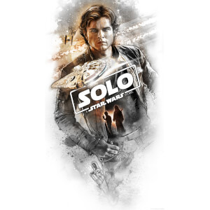 "Lithographie Star Wars Solo ""Flying Solo"" par Steve Anderson (40 cm x 71 cm) Exclusivité Zavvi UK"