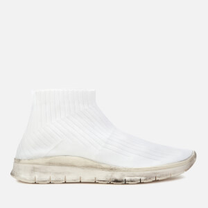 Maison Margiela Men's Knit Sock High Top Trainers - Off White