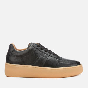 Maison Margiela Men's MM1 Embossed Leather Low Top Trainers - Black