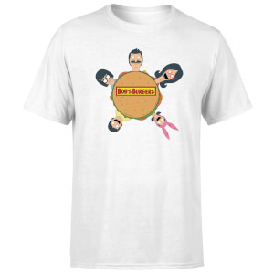 T-Shirt Homme Logo Table Ronde Bob's Burgers - Blanc