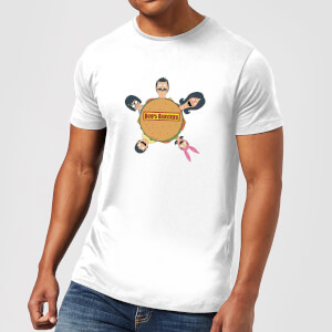 Bobs Burgers Round Table Logo T-shirt - Wit
