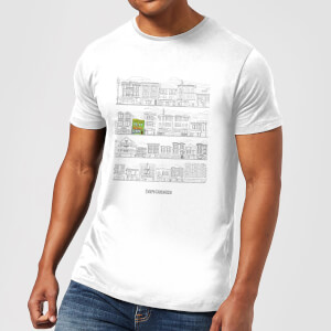 Bobs Burgers Street Plan Drawing Men's T-Shirt - White